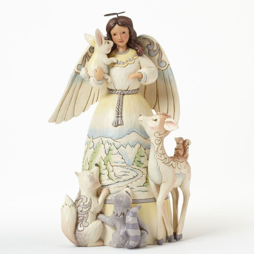 Jim Shore Heartwood Creek Peace To All Woodland Angel With Animals 4041084